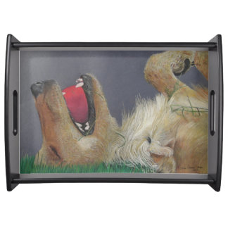 Golden Retriever With Ball Serving Tray