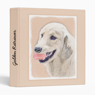 Golden Retriever with Tennis Ball 3 Ring Binders