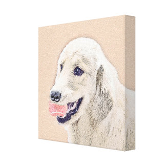 Golden Retriever with Tennis Ball Canvas Print