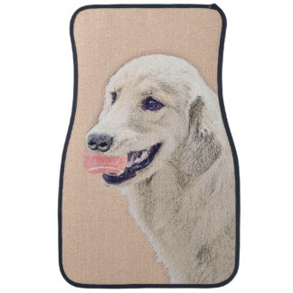 Golden Retriever with Tennis Ball Car Floor Carpet