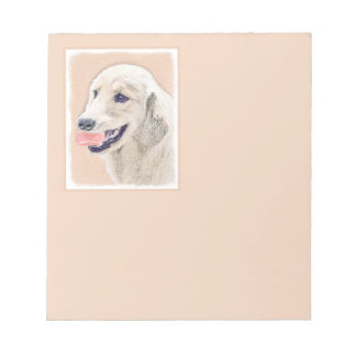 Golden Retriever with Tennis Ball Notepad