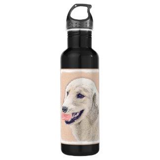 Golden Retriever with Tennis Ball Painting Dog Art 710 Ml Water Bottle