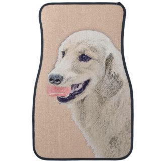 Golden Retriever with Tennis Ball Painting Dog Art Car Mat