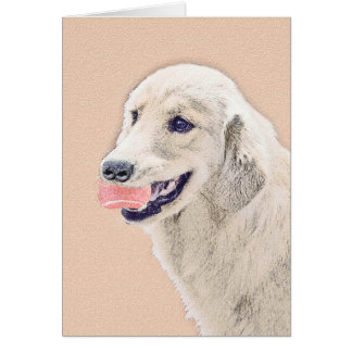 Golden Retriever with Tennis Ball Painting Dog Art Card