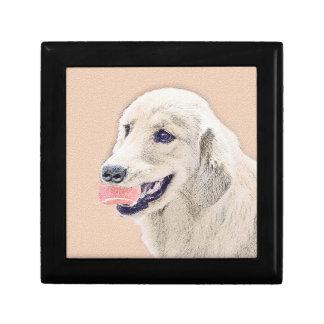 Golden Retriever with Tennis Ball Painting Dog Art Gift Box