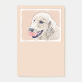 Golden Retriever with Tennis Ball Post-it Notes