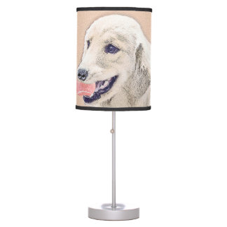 Golden Retriever with Tennis Ball Table Lamp