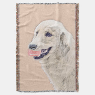 Golden Retriever with Tennis Ball Throw Blanket