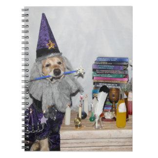 Golden Retriever Wizard's Workshop Spiral Note Books