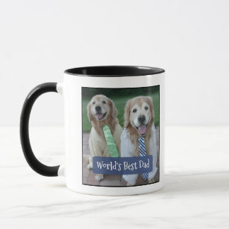 Golden Retriever World's Best Dad Father's Day Mug