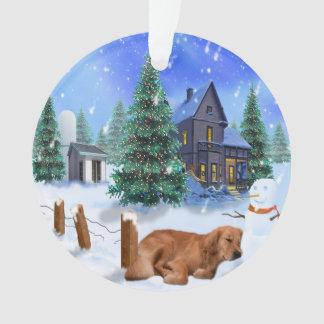 Golden Retriever Yogi Christmas Ornament