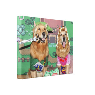 Golden Retriever Zelda and Link Canvas Print