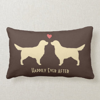 Golden Retrievers - Wedding Dogs with Text Lumbar Pillow
