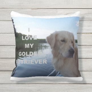Golden_retriver_love w pic throw pillow