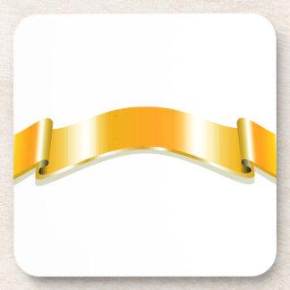 Golden Ribbon Drink Coaster