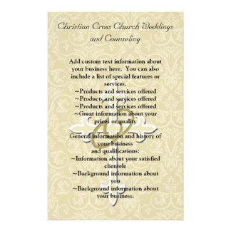 Golden Rings with Cross, Elegant Christian Love Flyer