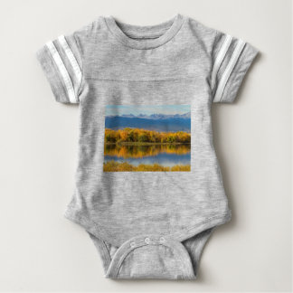 Golden Rocky Mountain Front Range View Baby Bodysuit