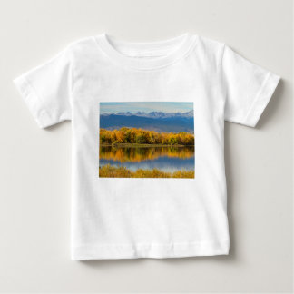Golden Rocky Mountain Front Range View Baby T-Shirt