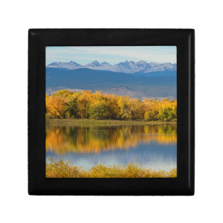 Golden Rocky Mountain Front Range View Gift Box