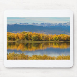 Golden Rocky Mountain Front Range View Mouse Pad