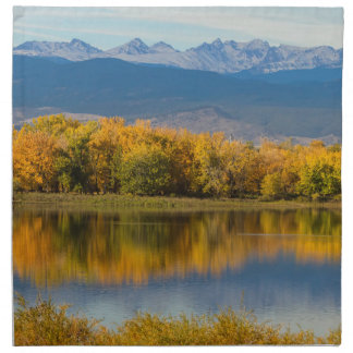 Golden Rocky Mountain Front Range View Napkin