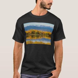 Golden Rocky Mountain Front Range View T-Shirt