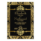 Golden Romance 1920s Art Deco Wedding Invitation