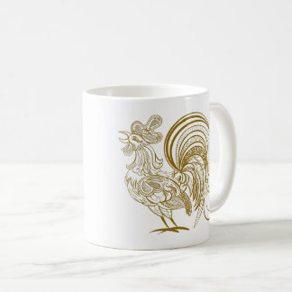 Golden Rooster. Happy New Year Mug