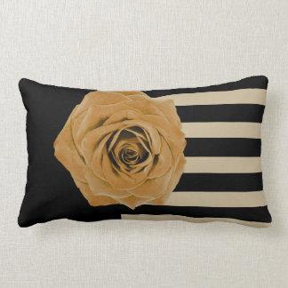 """Golden Rose Black and Tan """"Pillow Time"""" Lumbar Pillow"""