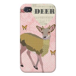 Golden Rose Deer & Butterflies i iPhone 4/4S Cases