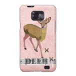 Golden Rose Deer Pink Case Samsung Galaxy S2 Covers