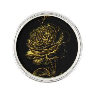Golden Rose Lapel Pin