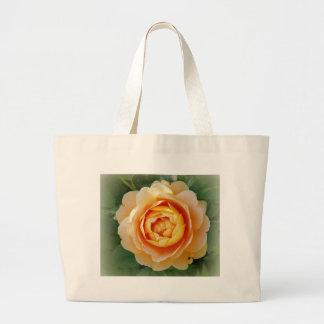 Golden rose large tote bag
