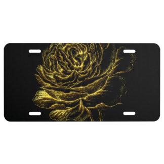 Golden Rose License Plate