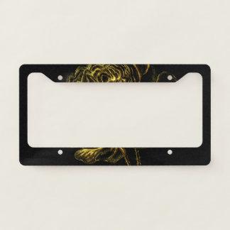 Golden Rose License Plate Frame