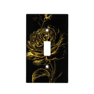 Golden Rose Light Switch Cover