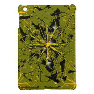 Golden Rose Petals Abstract Blots Case For The iPad Mini