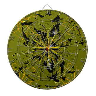 Golden Rose Petals Abstract Blots Dartboard