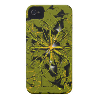 Golden Rose Petals Abstract Blots iPhone 4 Covers