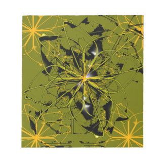 Golden Rose Petals Abstract Blots Notepad