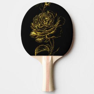Golden Rose Ping Pong Paddle