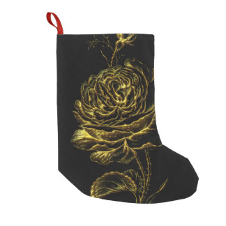Golden Rose Small Christmas Stocking
