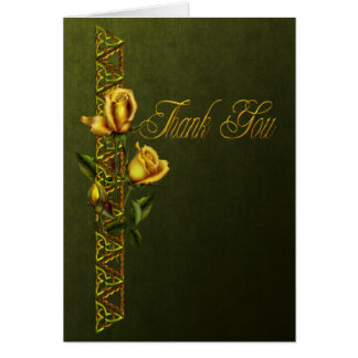 Golden Roses Wedding Suite Thank You Card