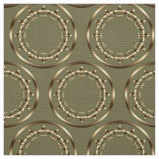 Golden royal circles pattern. fabric