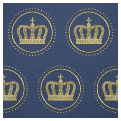 Golden Royal Crown II & Stars + your back & ideas Fabric