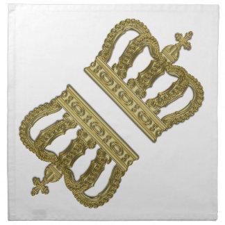 Golden Royal Crown II + your backgr. & ideas Napkin
