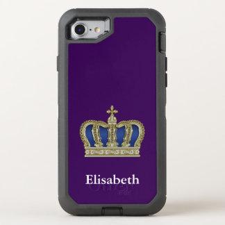 Golden Royal Crown V + your backgr. & ideas OtterBox Defender iPhone 7 Case