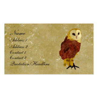 Golden Ruby Owl Business Card/Tags