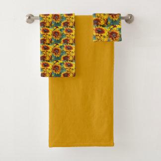 Golden Rudbeckias Floral Bath Towel Set