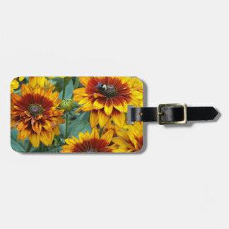 Golden Rudbeckias Floral Luggage Tag